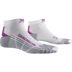 X-Socks Run Discovery Sokken Dames, white/twyce purple/grey melange
